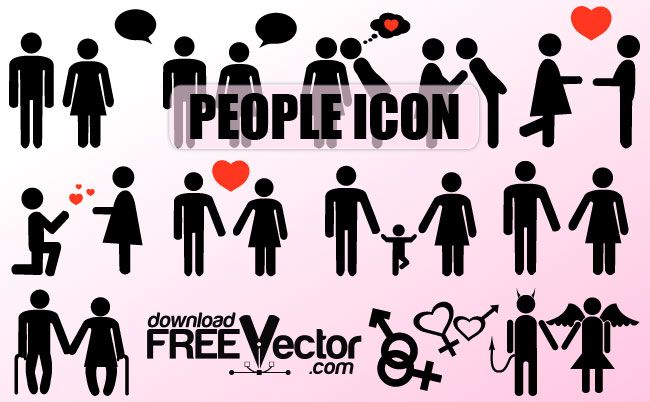 Icon People Vector Silhouette
