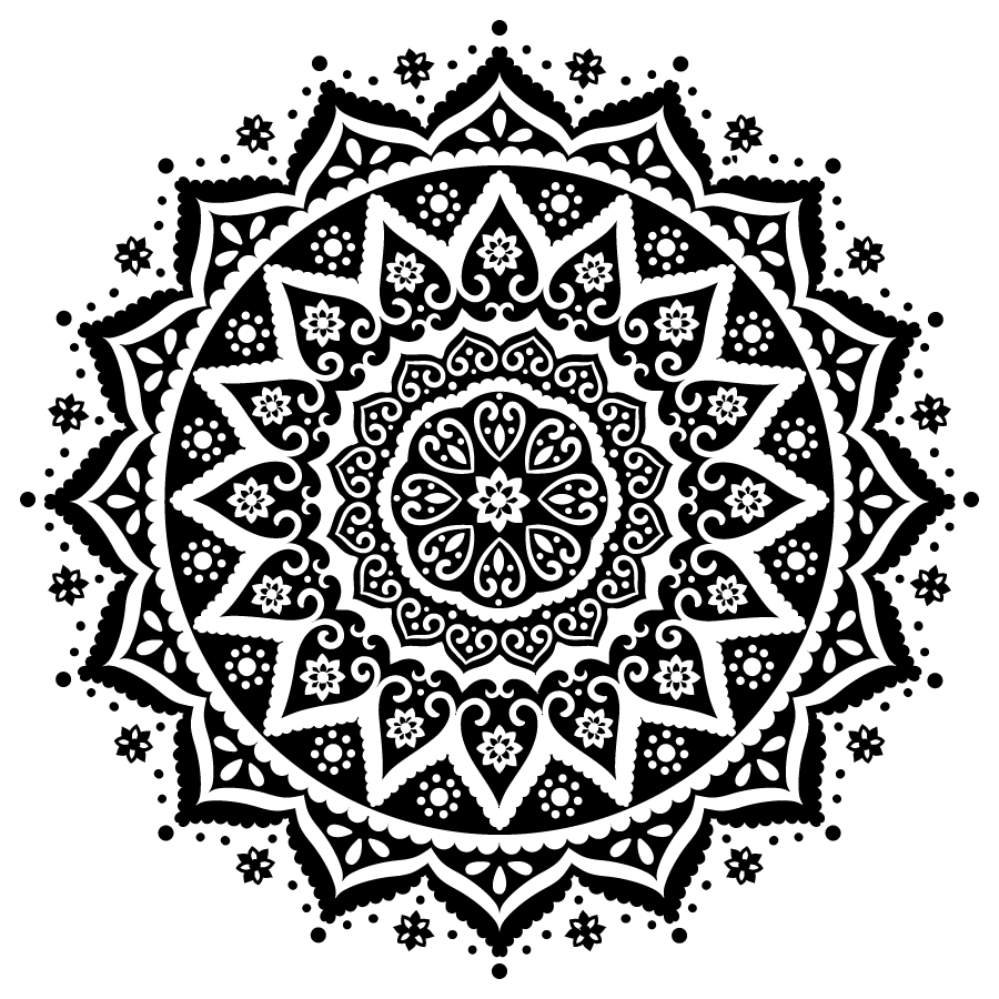 Indian Patterns Black And White