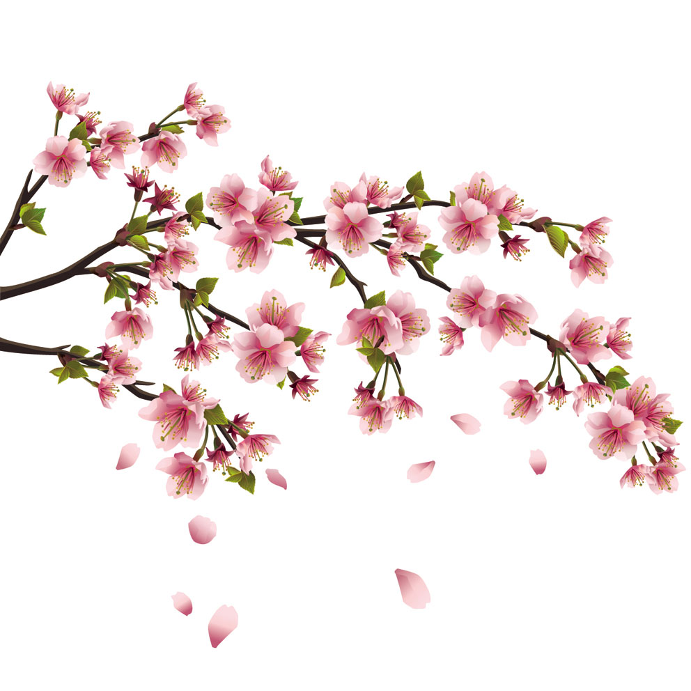 14 Japanese Flower Vector Art Images