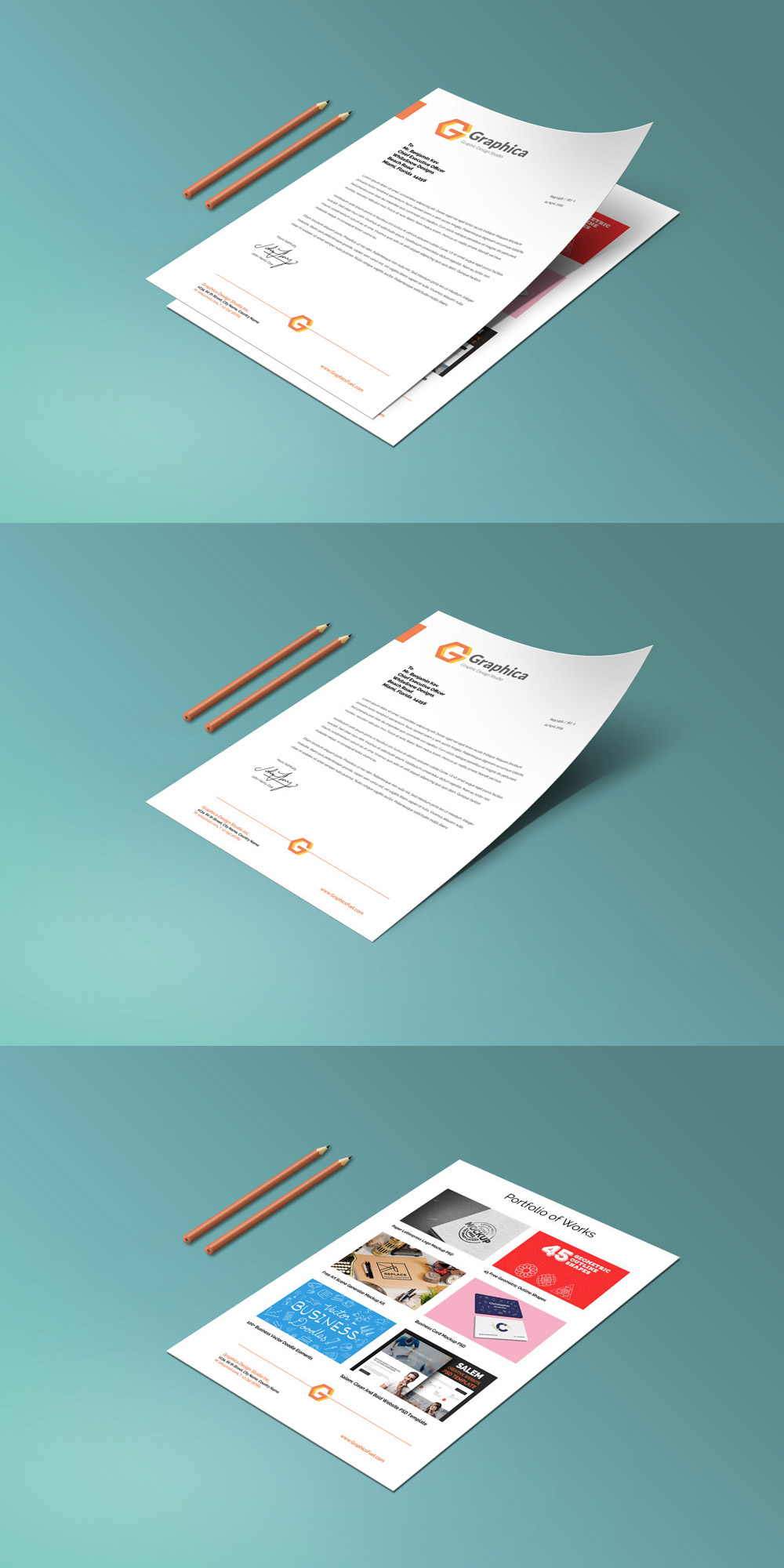 Letter Head PSD Free Download