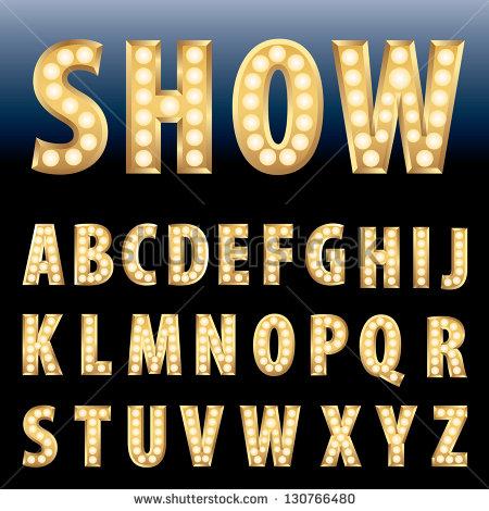 Light bulb letters