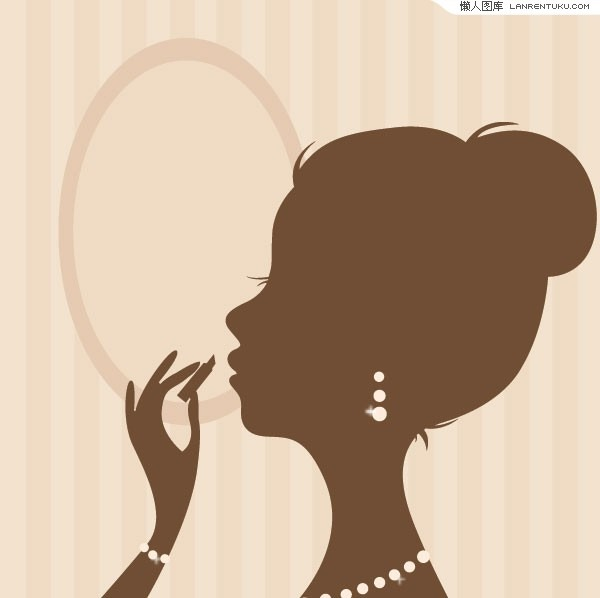 16 Make Up Vector Silhouette Images