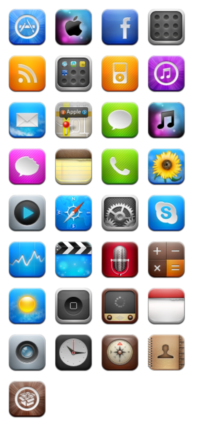 18 Mobile Application Icons Images