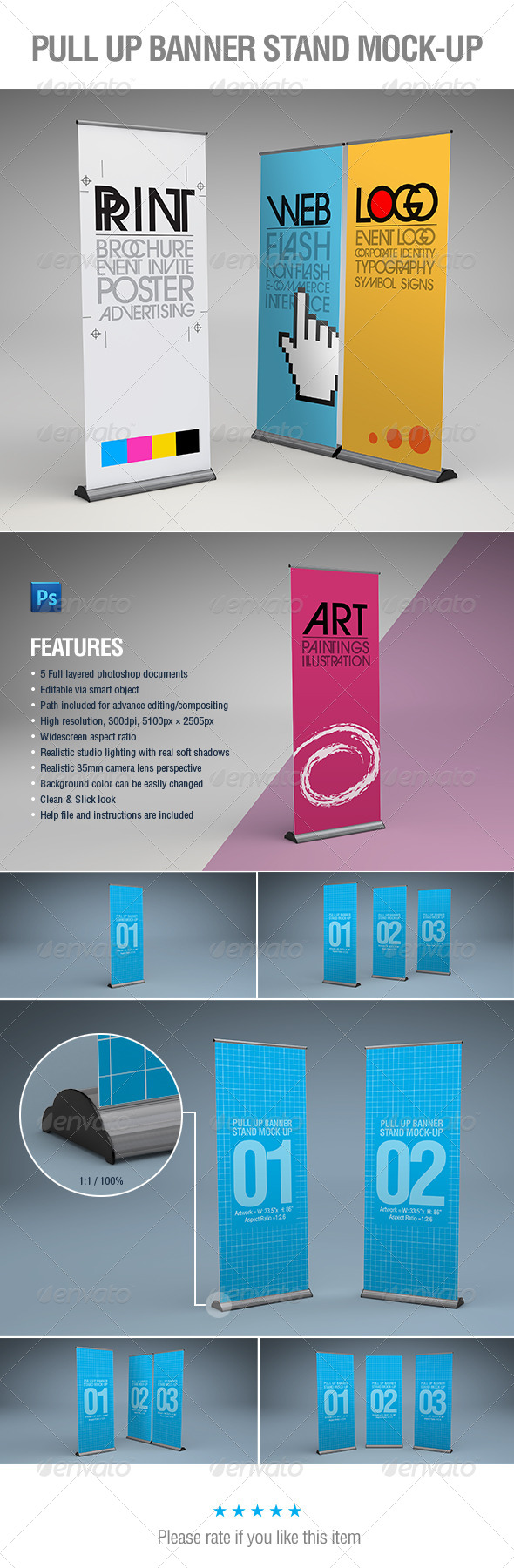 Exhibition Stand Design Mockup Psd : Stand up banner psd mockup images