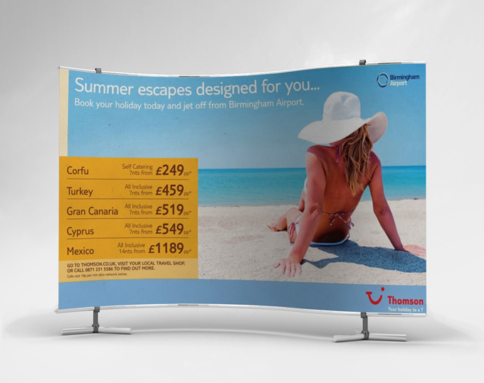 Mock Up Banner Stand