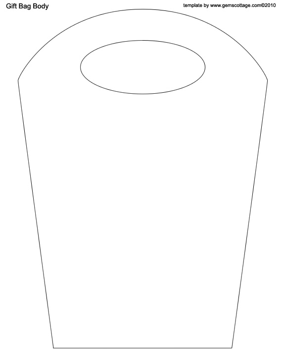 Paper Gift Bag Template