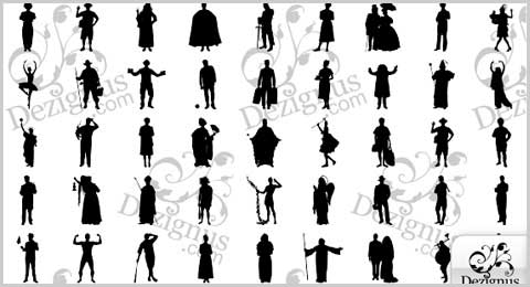 10 Photoshop Custom Shape Silhouettes Images
