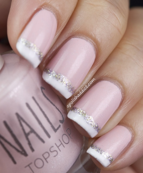 Pink French Tip Nail Art