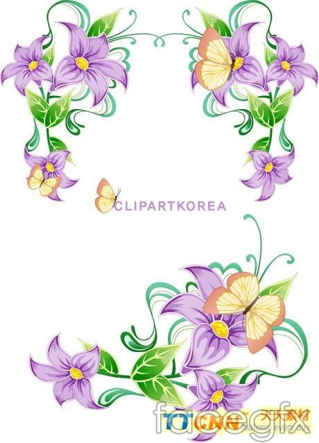 10 Purple Flower Vector Images