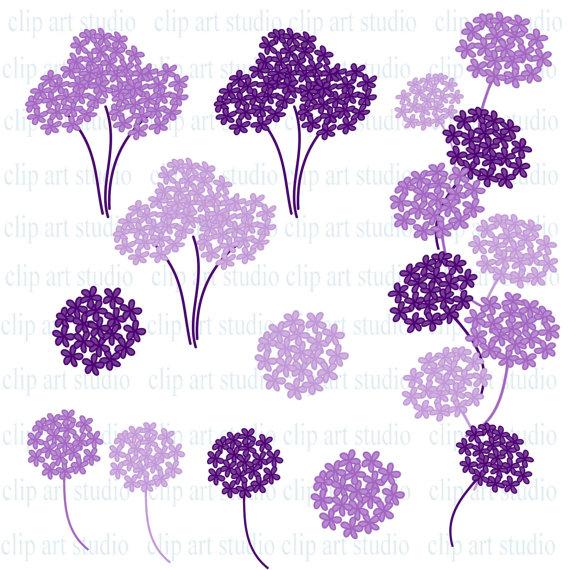Purple Flower Border Clip Art