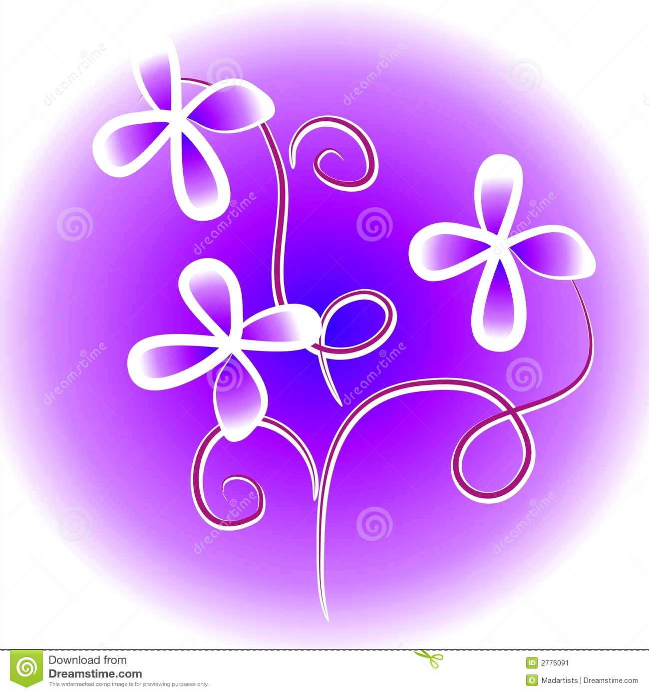 Purple Flower Clip Art