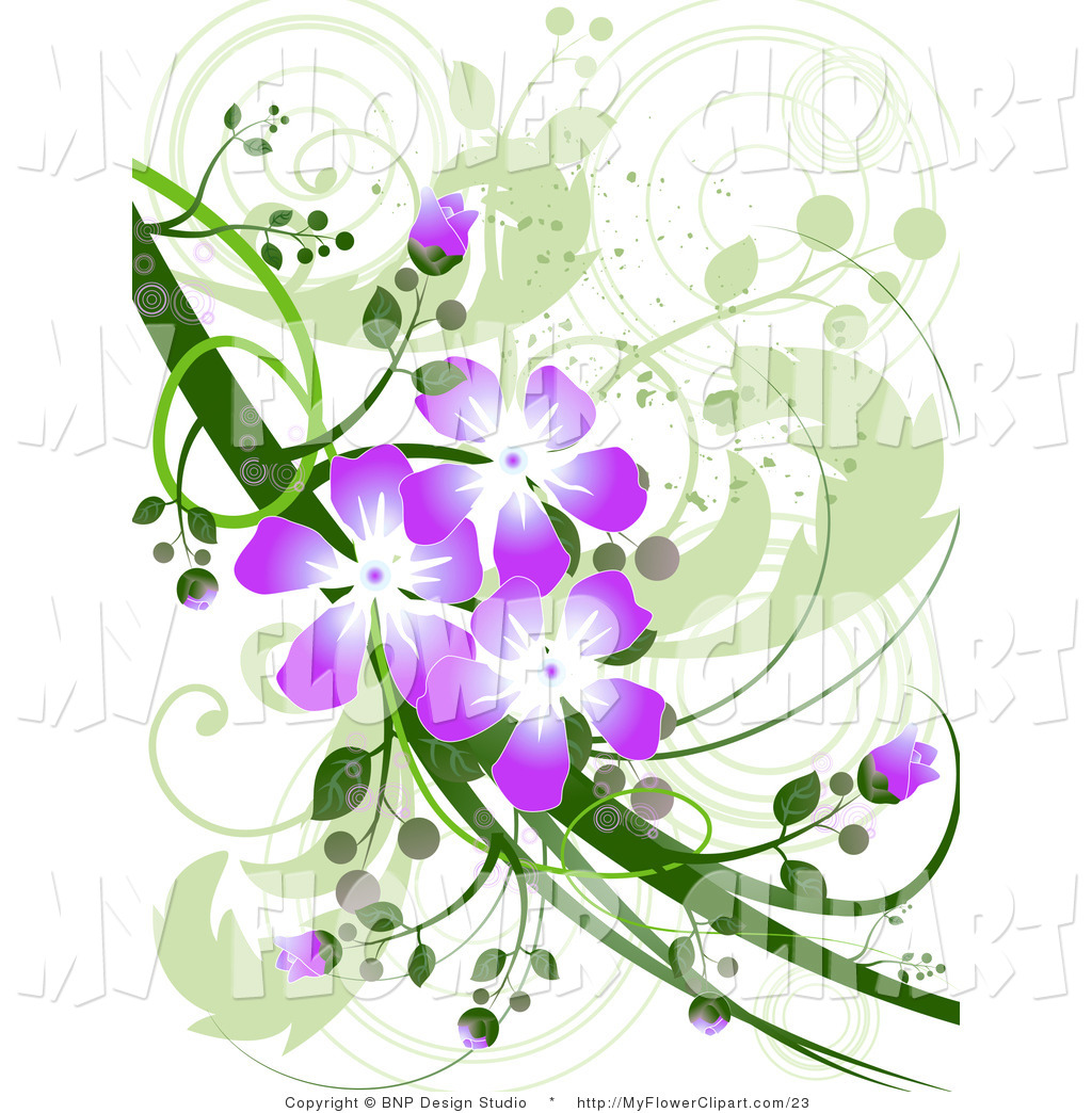 Purple Flower Design Clip Art