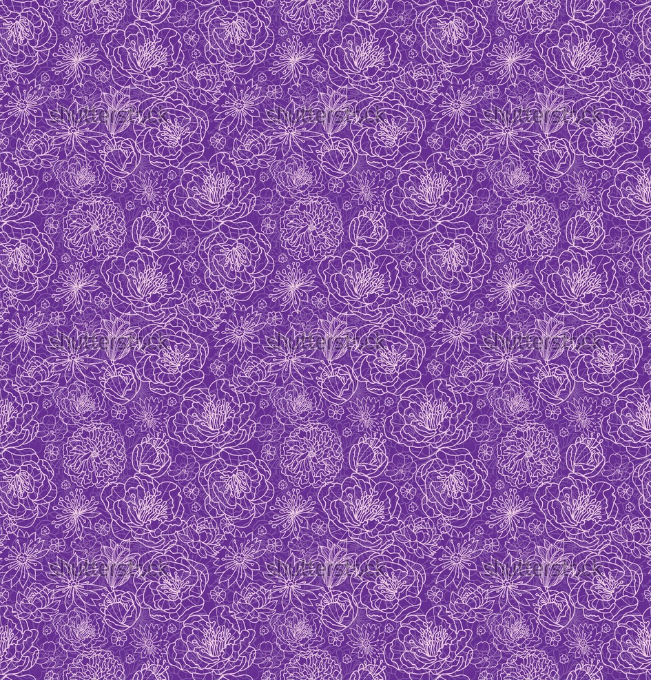 Purple vintage floral pattern - photo#9