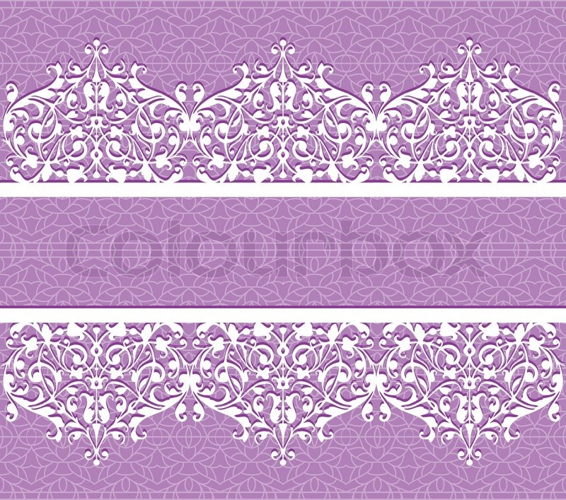 5 Purple Lace Vector Images