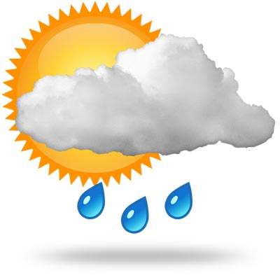 14 individual weather icons images rain symbol weather