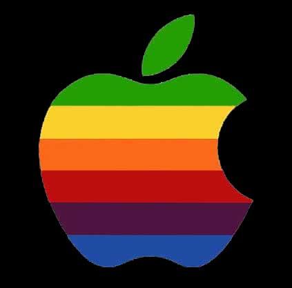 Rainbow Apple Logo Think Different