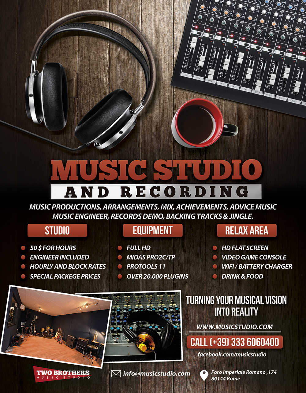 how to start a recording studio