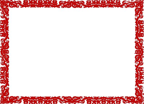 Red Border Clip Art