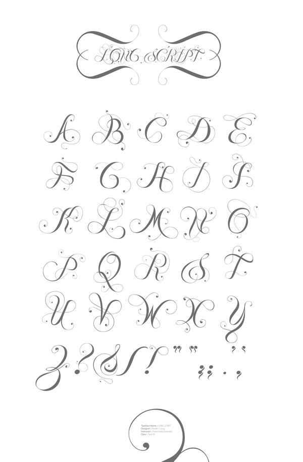 Script Fonts with Flourish