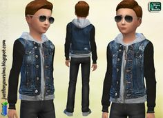 Sims 4 Child Denim Jacket