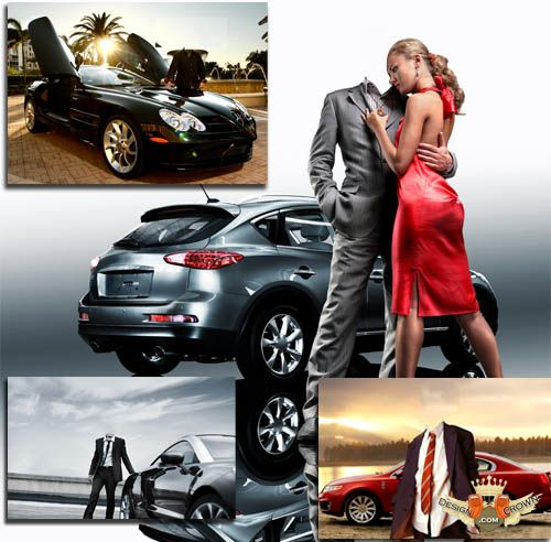 Sports Car with Man and Women