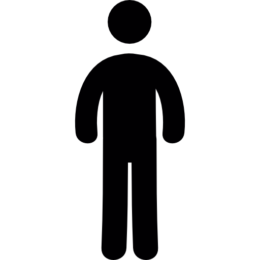 Standing Person Silhouette Icon