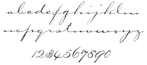 Thin Cursive Font