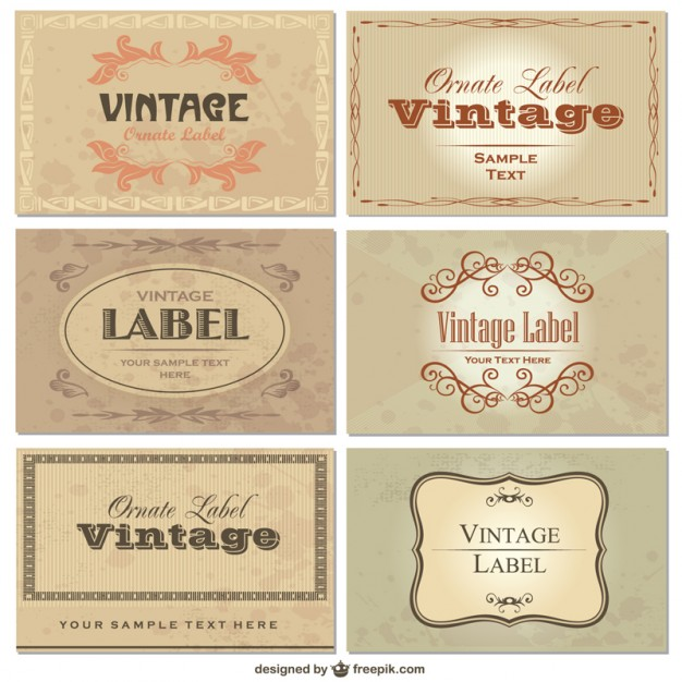 Vintage Labels Free Download Vectors