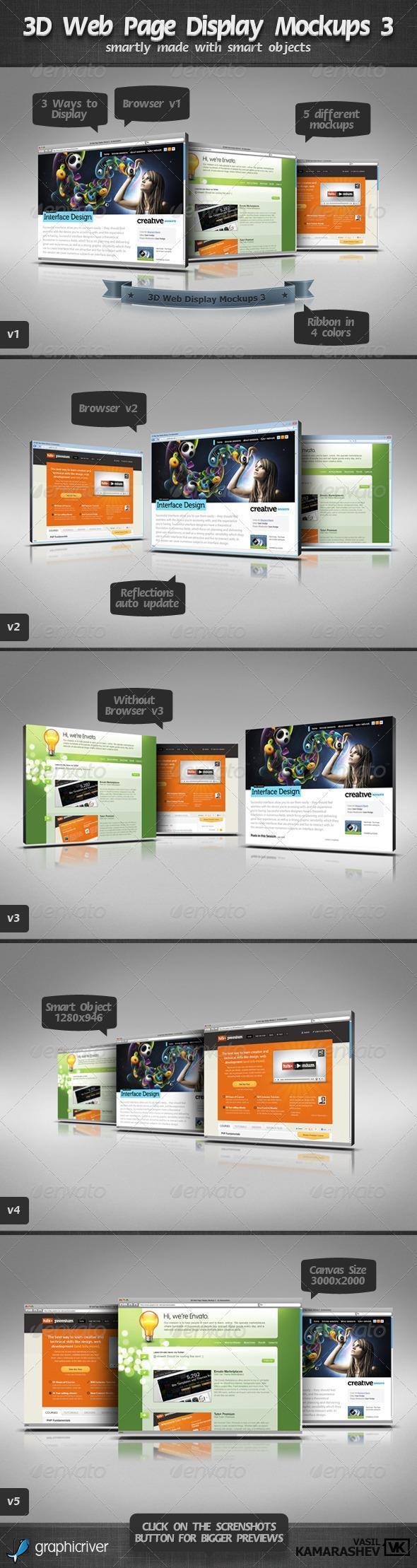 Web Page Mockup PSD