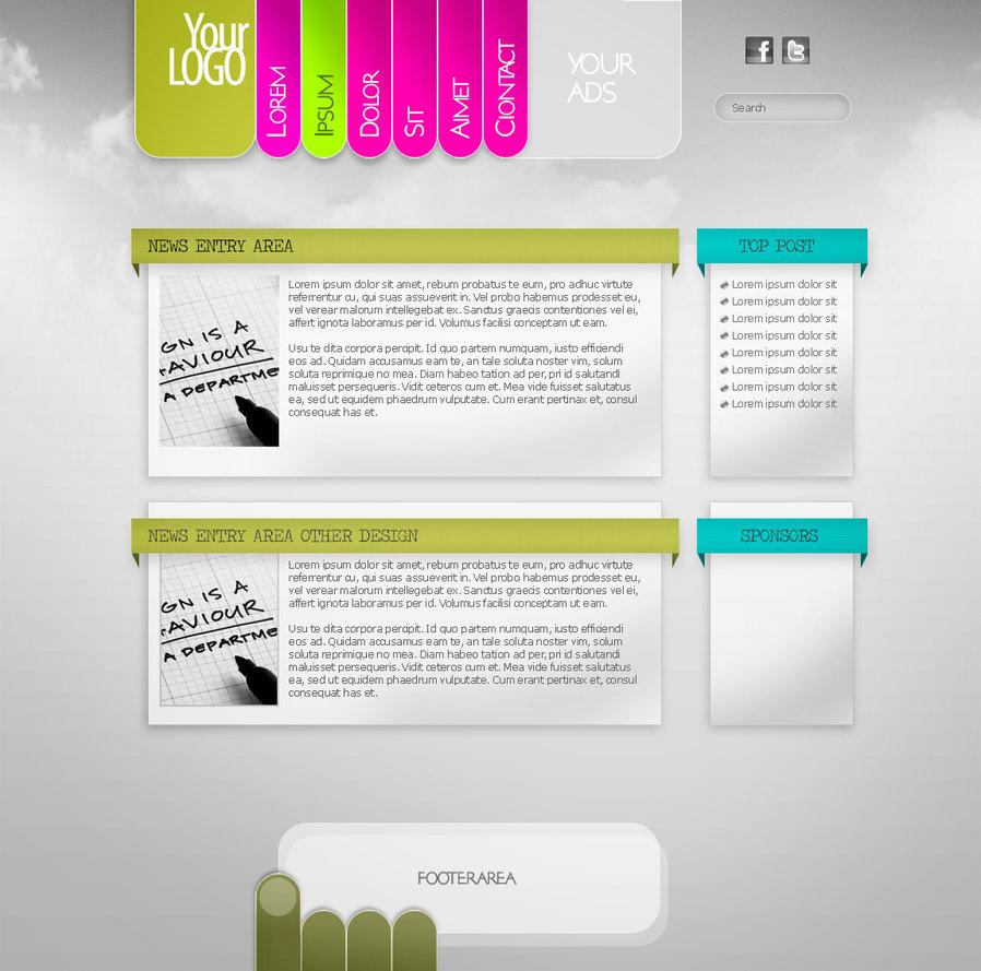 20 Web Design PSD Templates Images