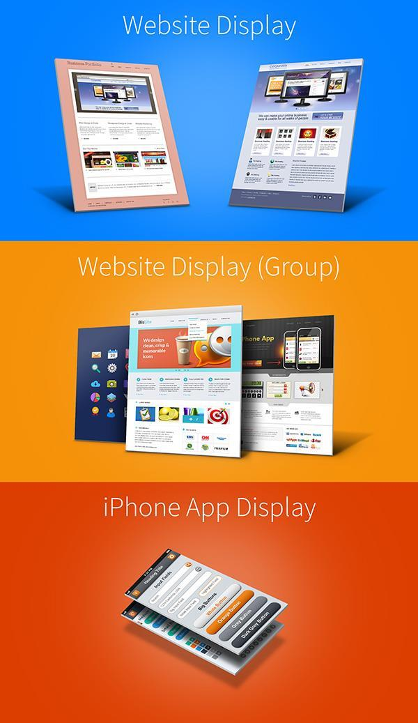 Website Mockup Display