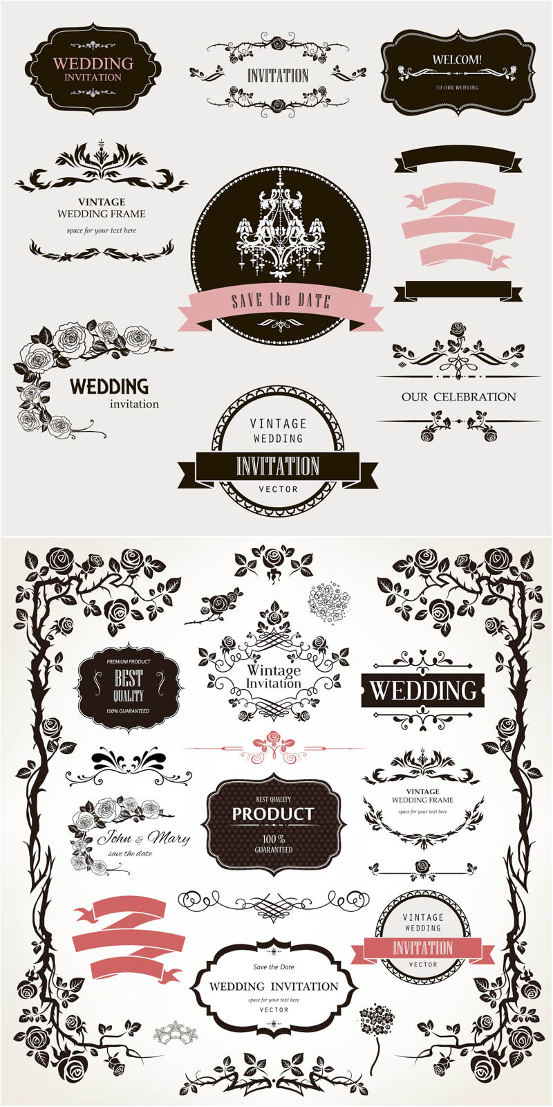 Wedding Floral Vector Designs