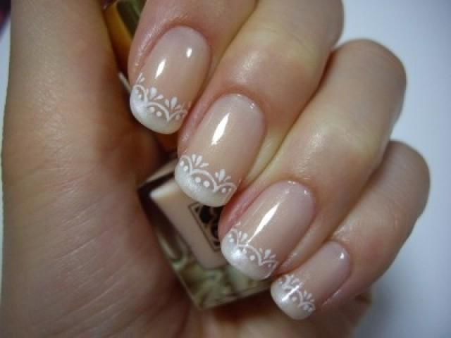 18 French Manicure Wedding Nail Designs Images