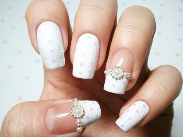 Wedding French Manicure Nail Designs