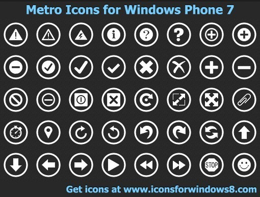 Windows Phone 8 Icons