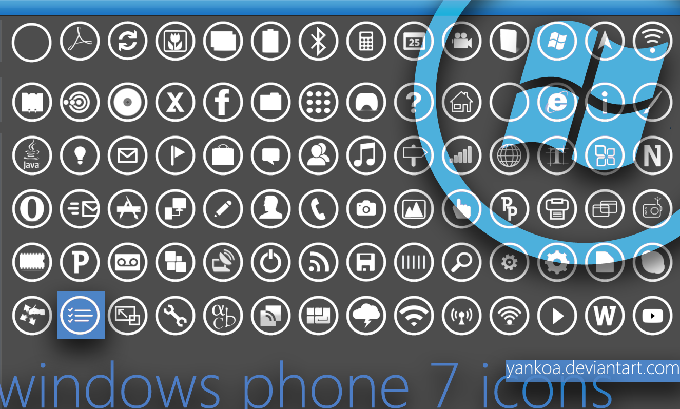 Windows Phone Metro Icons