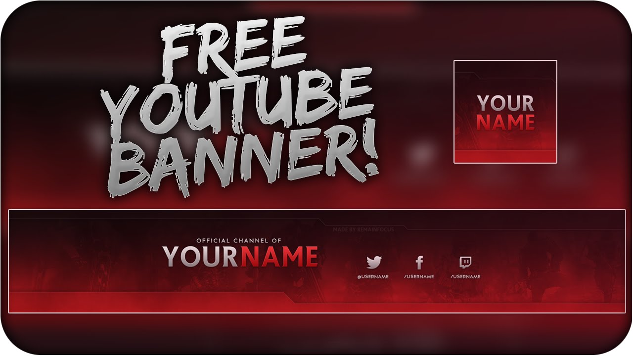 YouTube Banner Template Free Download