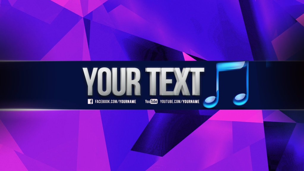 YouTube-Channel Banner Template