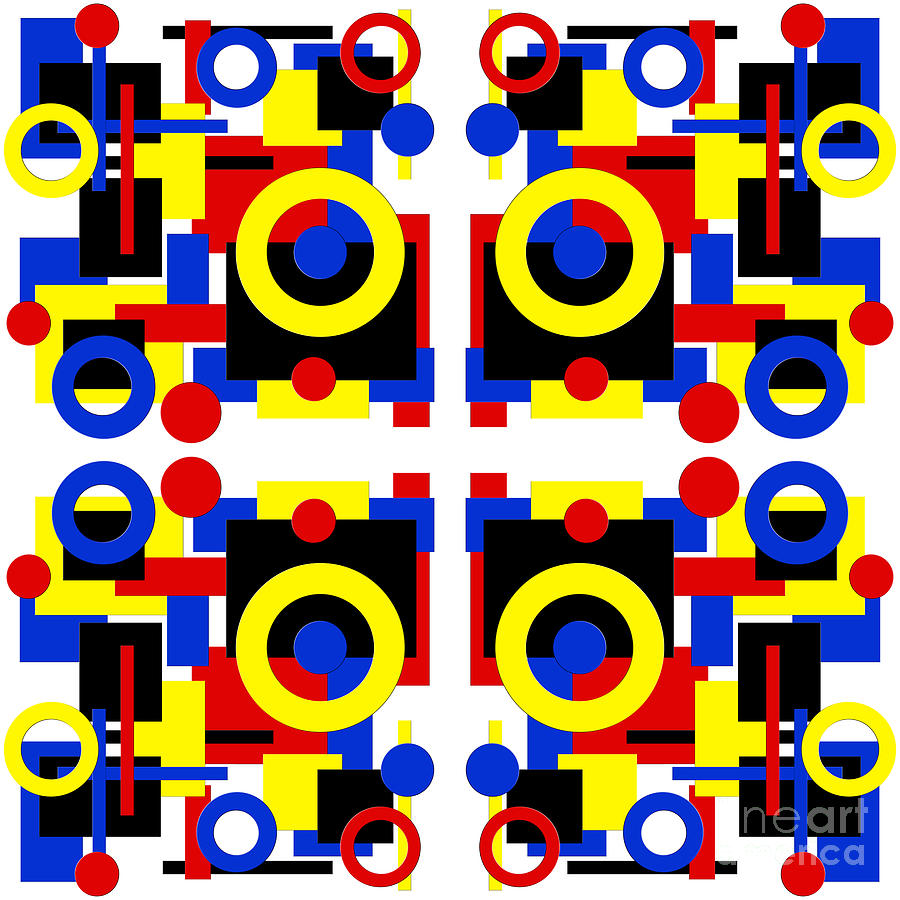 Abstract Art Geometric Shapes Square