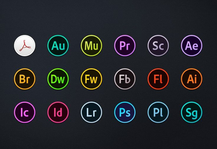 14 Adobe CC Icons Vector Images