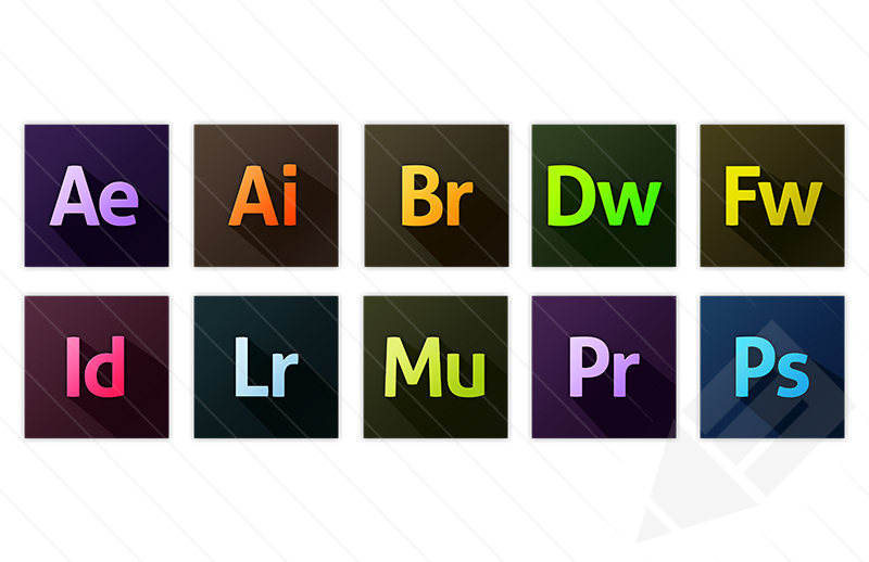 Adobe Creative Suite CC Icons Vector