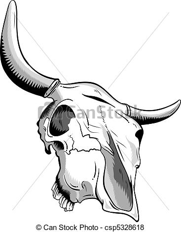 11 Vector Line Art Animal Skull Images