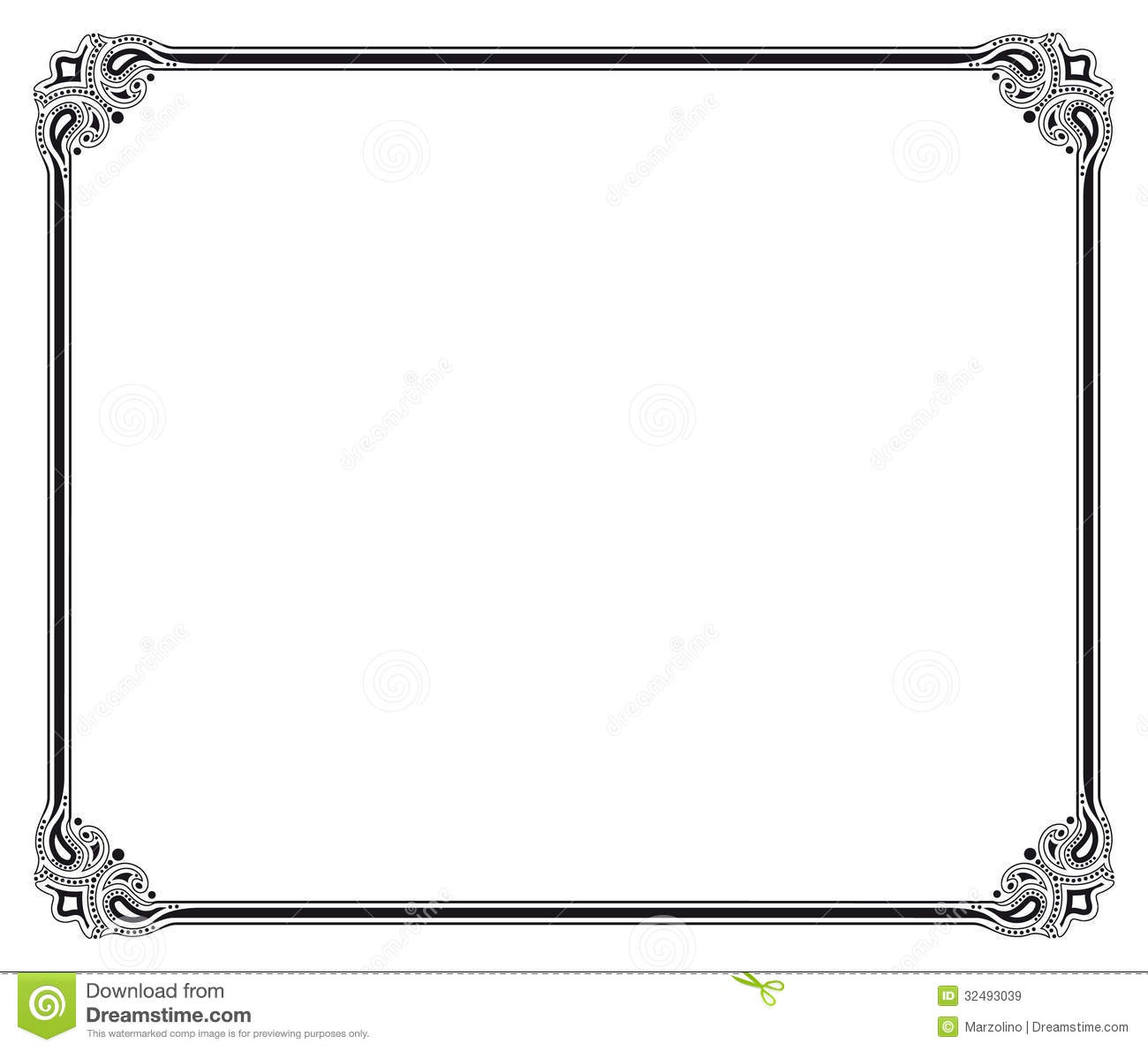 11 Black And White Vintage Frame Vector Images Black White Vintage