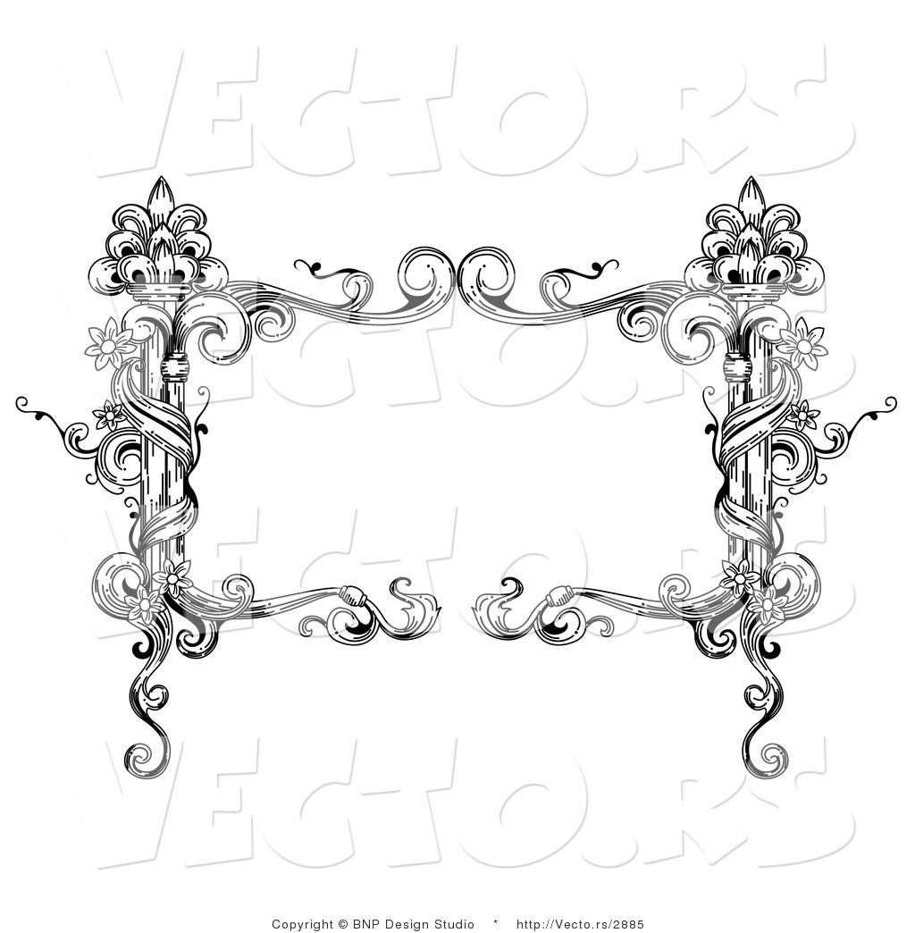 11 Black And White Vintage Frame Vector Images - Black ...