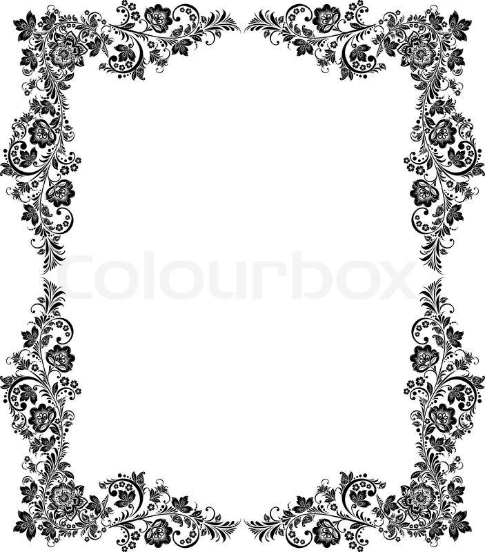 11 Black And White Vintage Frame Vector Images - Black ...