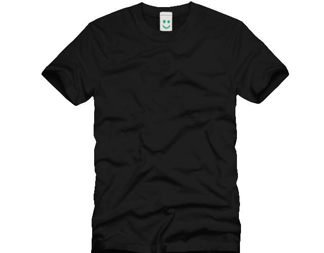 Blank Black T-Shirt Template