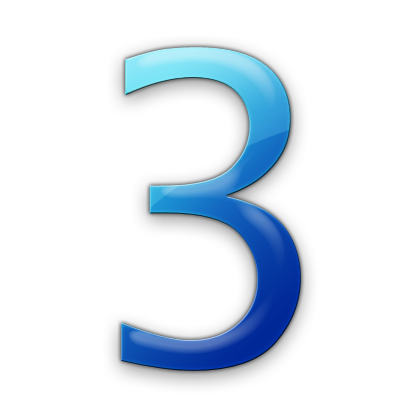 16 Blue Number 0 Icon Images