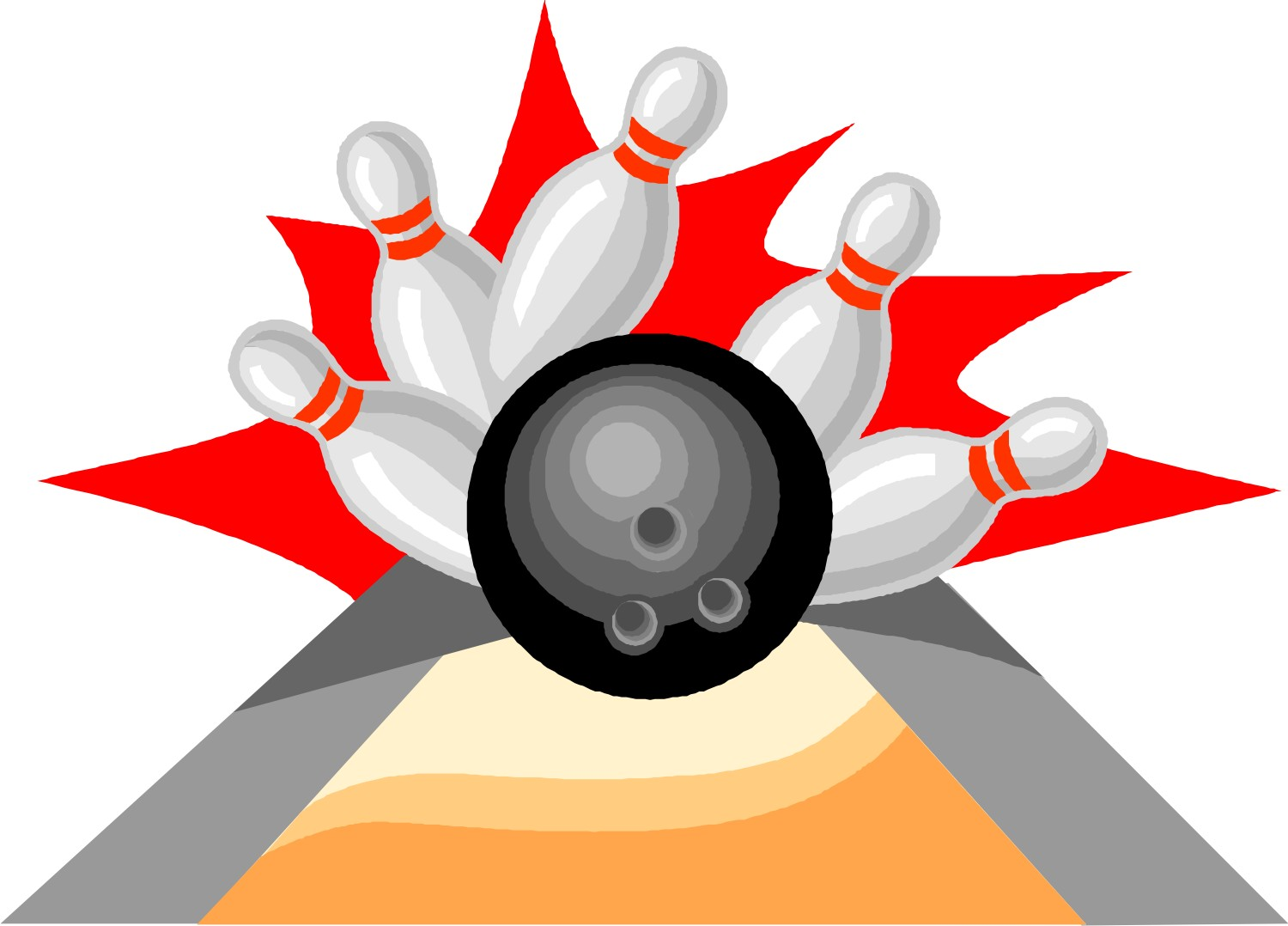 12 Bowling Clip Art Icon Images