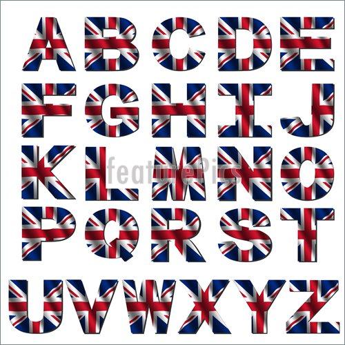 13 Flag Letter Font Images American Flag Font American