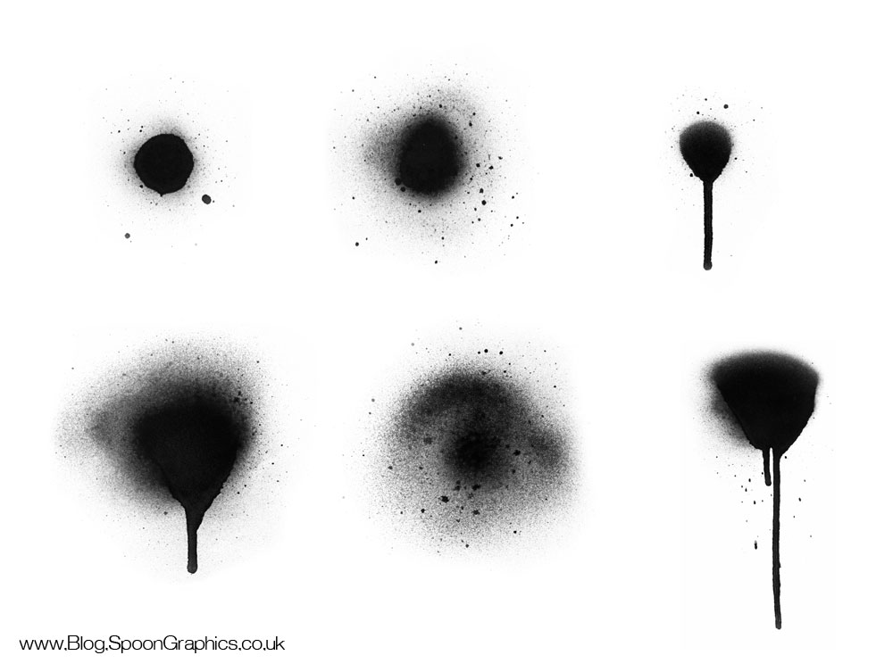 9 Paint Drip Photoshop Brushes Images